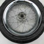 2007 harley-davidson dyna CHROME OEM REAR BACK WHEEL RIM W/ TIRE 17*4.5